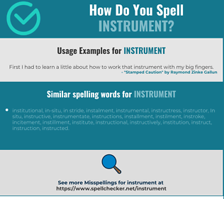 Correct spelling for instrument