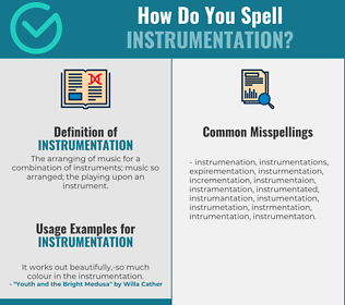 Correct spelling for instrumentation