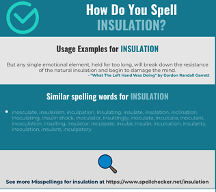 Correct spelling for insulation