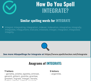 Correct spelling for integrate