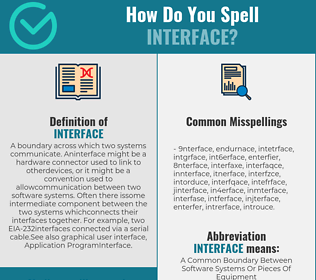 Correct spelling for interface
