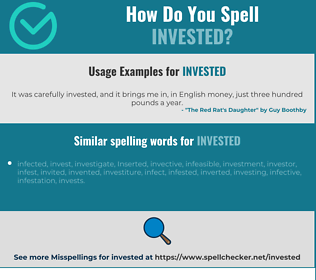 Correct spelling for invested