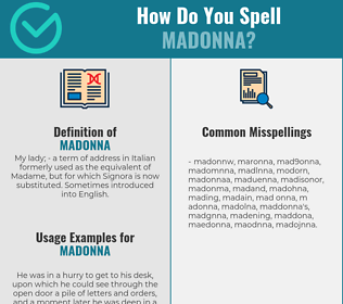 Correct spelling for madonna