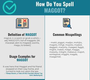 Correct spelling for maggot