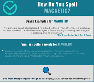 Correct spelling for magnetic