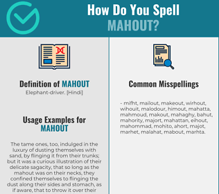 Correct spelling for mahout