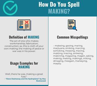 Correct spelling for making