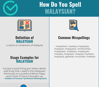Correct spelling for malaysian