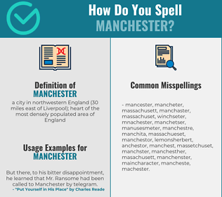 Correct spelling for manchester