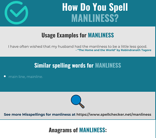 Correct spelling for manliness