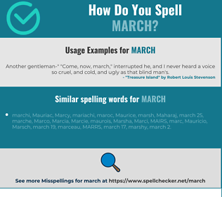 Correct spelling for march