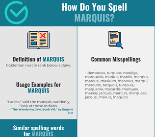 Correct spelling for marquis