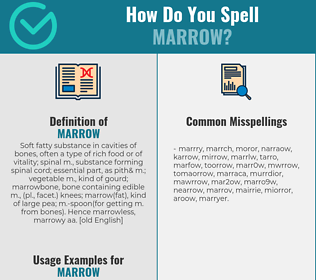 Correct spelling for marrow