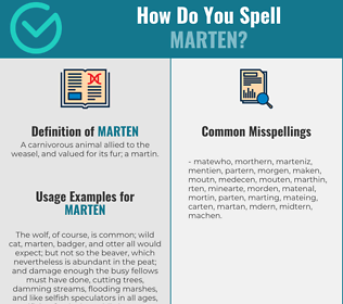 Correct spelling for marten