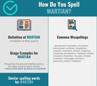 Correct spelling for martian