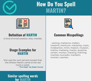 Correct spelling for martin