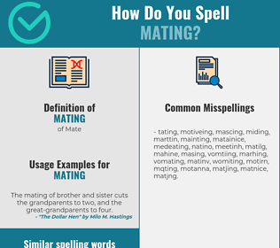 Correct spelling for mating
