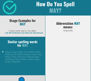 Correct spelling for may