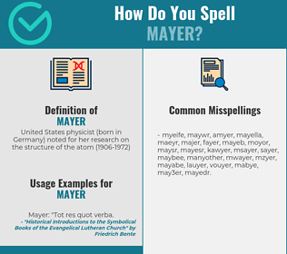 Correct spelling for mayer