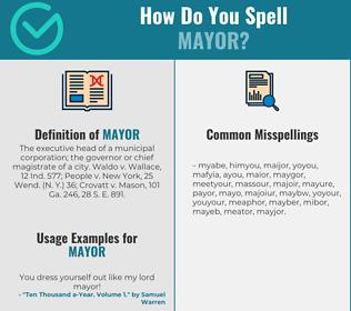 Correct spelling for mayor