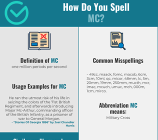 Correct spelling for mc