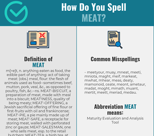 Correct spelling for meat