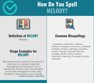Correct spelling for melody
