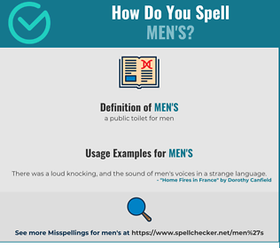 Correct spelling for men's