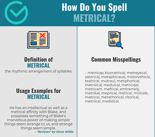 Correct spelling for metrical
