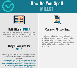 Correct spelling for mills