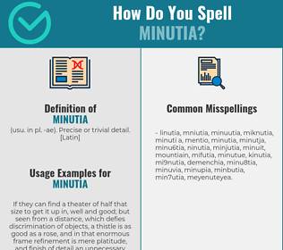 Correct spelling for minutia