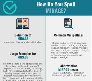 Correct spelling for mirage