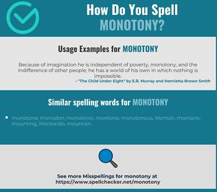 Correct spelling for monotony