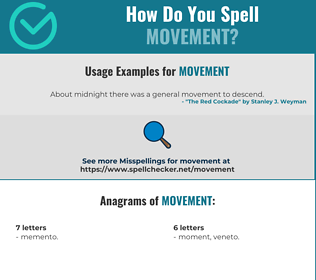Correct spelling for movement