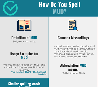 Correct spelling for mud