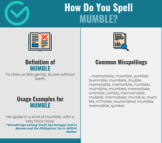 Correct spelling for mumble