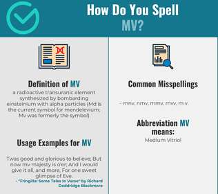 Correct spelling for mv