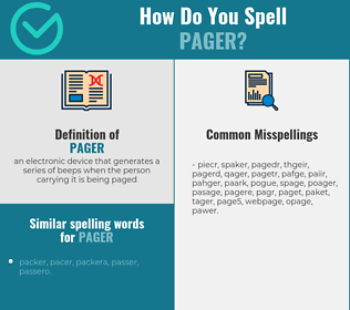 Correct spelling for pager