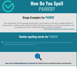 Correct spelling for paired