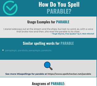 Correct spelling for parable