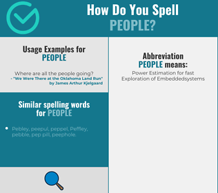 Correct spelling for people