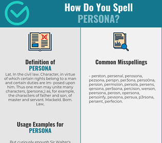 Correct spelling for persona