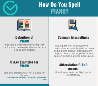Correct spelling for piano