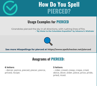 Correct spelling for pierced