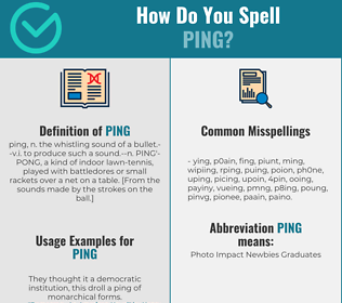 Correct spelling for ping