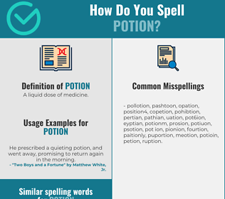 Correct spelling for potion