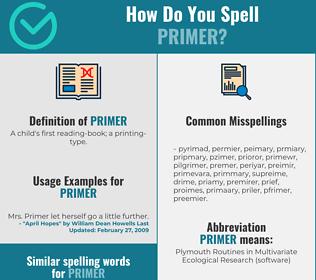 Correct spelling for primer