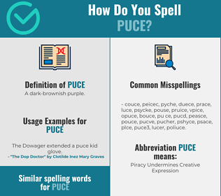 Correct spelling for puce