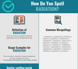 Correct spelling for radiation