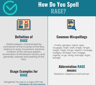 Correct spelling for rage